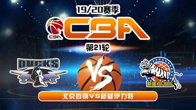 CBA19/20赛季第21轮北京首钢VS新疆伊力特