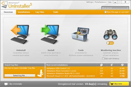 Ashampoo UnInstaller 5计算机还原_5.05.00_32位 and 64位中文共享软件(20.97 MB)