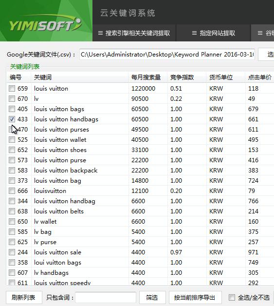 一米云关键词系统_v2016-01-10_32位中文共享软件(811 KB)