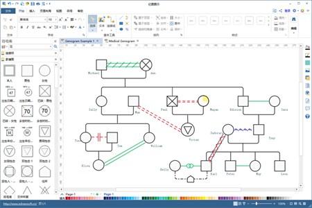 亿图图示(家系图绘制软件)_V9.1_32位 and 64位中文共享软件(283.13 MB)
