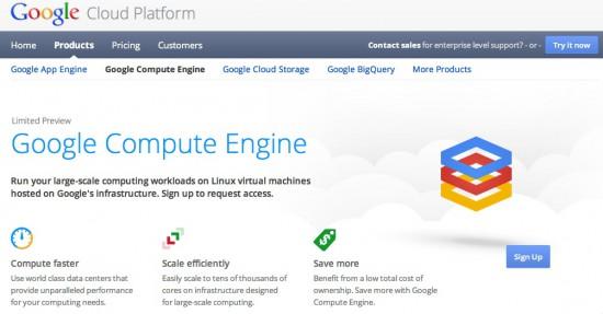 【数据测试】Google Compute Engine 云计算平台发布