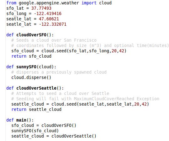 【数据测试】Google App Engine 发布真正的云层 Cloud API