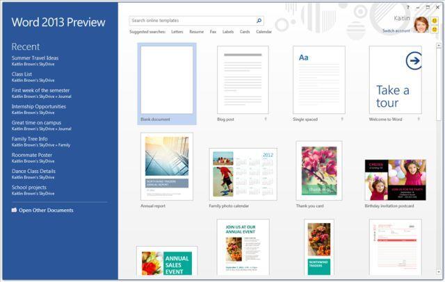 【数据测试】微软介绍Office 2013的云功能