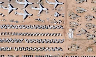 【数据测试】十大震撼谷歌地图卫星照:俯瞰美国飞机墓地
