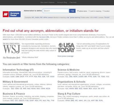 【各种资源】外贸公司必备工具网站之一缩写搜索网站