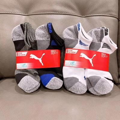 【购物渠道】PUMA彪马运动短袜 8双袜子139直邮