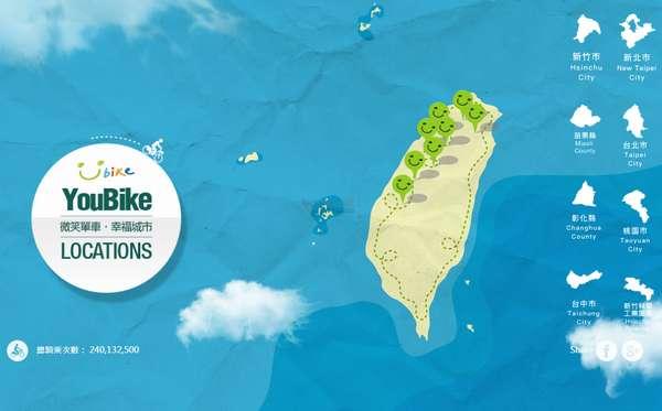 【经典网站】YouBike 台湾微笑单车租赁平台