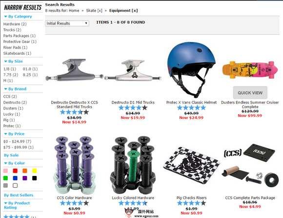 【经典网站】CCS:国际滑板装备零售网