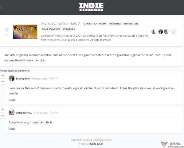【经典网站】IndieBound:独立游戏探索平台