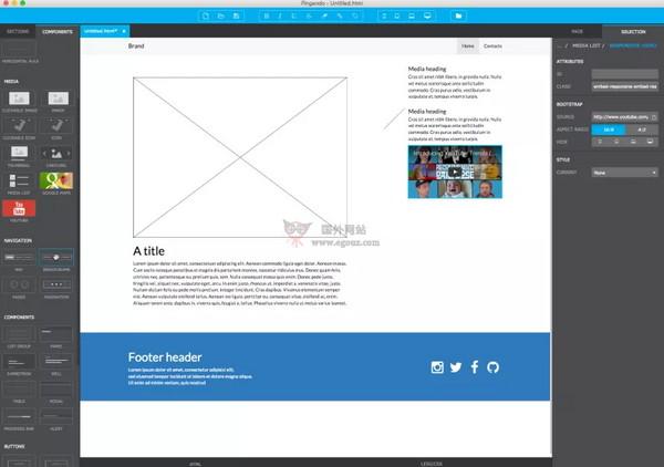 【工具类】Pingendo|视觉网页设计工具