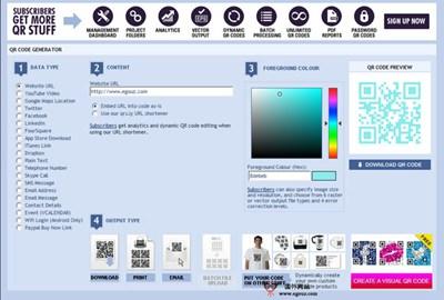 【工具类】Qrstuff:在线免费QR二维码制作工具