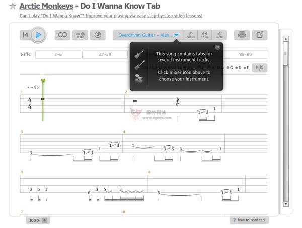 【经典网站】Songsterr|在线吉他乐谱教学网