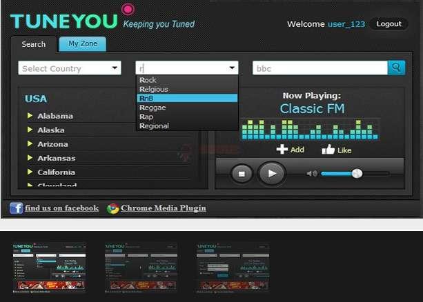 【经典网站】TuneYou|全球广播电台订阅收听平台