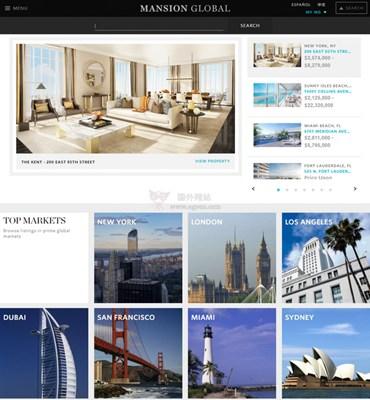 【经典网站】Mansion 环域居高端豪宅销售平台