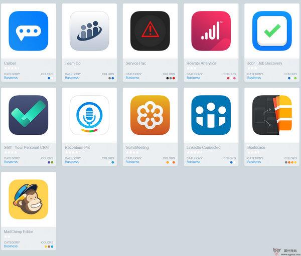 【素材网站】IconsFeed:免费IOS应用图标分享网