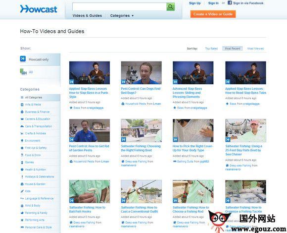 【经典网站】HowCast:话题式视频分享网