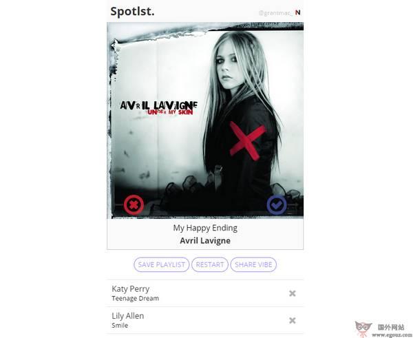 【经典网站】Spotlst:基于艺人的音乐搜索播放网