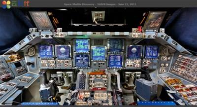 【数据测试】360度全景在线体验发现号航天飞机驾驶舱!