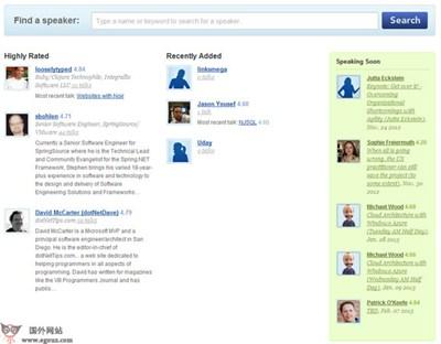 【经典网站】SpeakerRate:公共演讲者交流平台