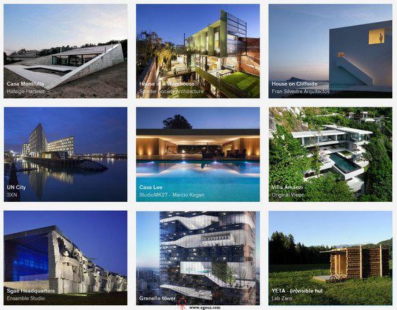 【经典网站】Architizer:建筑师设计作品目录大全
