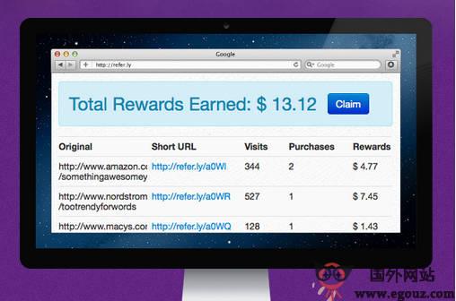 【经典网站】ReFer.LY:全民式返佣金分享平台