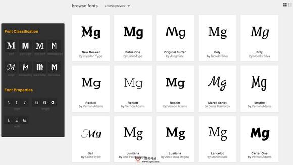 【素材网站】FontPro:基于谷歌字体免费资源下载网