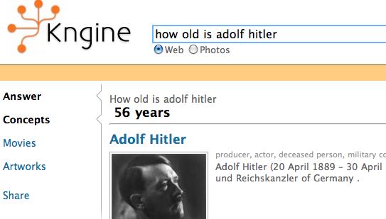 【经典网站】Kngine:语义搜索引擎