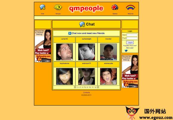 【经典网站】QmPeople:免费在线视频聊天室
