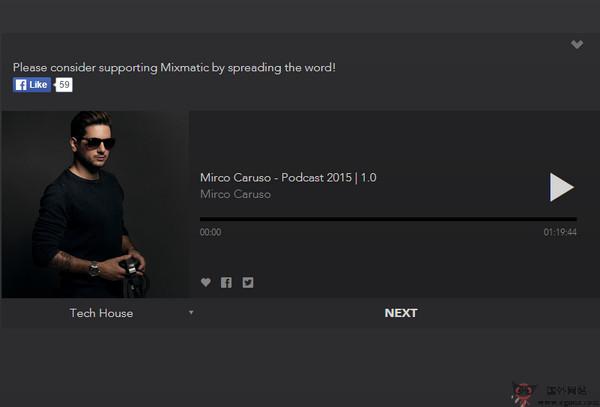 【经典网站】Mixmatic:基于音乐流派发现网