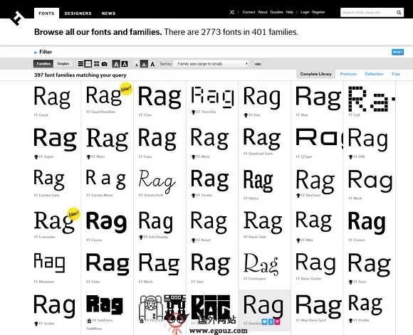 【素材网站】FontFonts:原创字体设计网