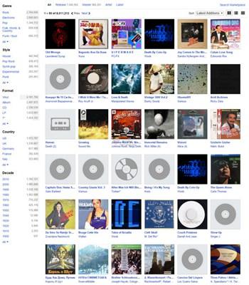 【经典网站】Discogs:在线音乐收录数据库