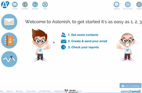 【经典网站】AstonishEmail:英国电子邮件营销网