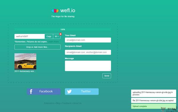 【经典网站】Weflio:免费图片临时空间存储网