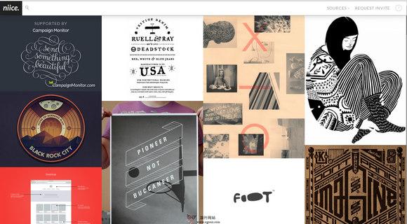 【经典网站】Niice.co:设计师视觉搜索引擎