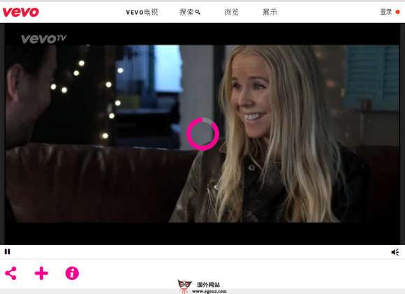 【经典网站】Vevo:国外音乐视频分享网