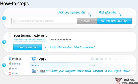 【工具类】BoxOpus:基于Dropbox网盘的BT下载工具