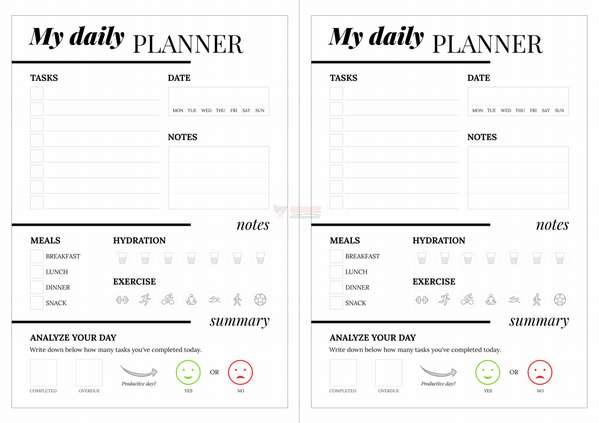 【素材网站】DailyPlanner 一日一页习惯日记养成