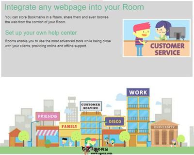 【经典网站】PeopleRooms:社交化在线虚拟聊天室