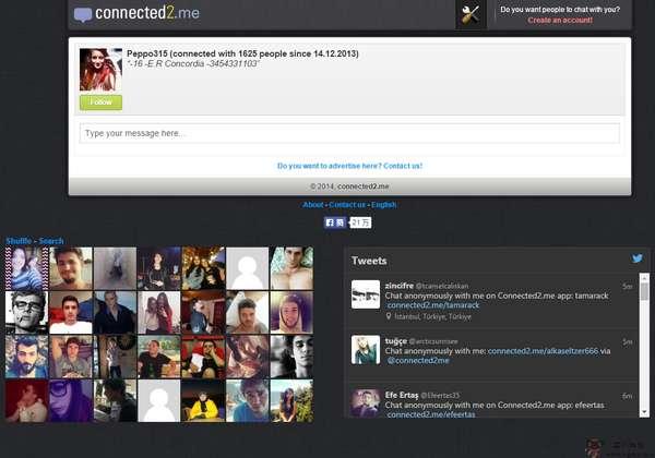 【经典网站】Connected2:在线匿名聊天室