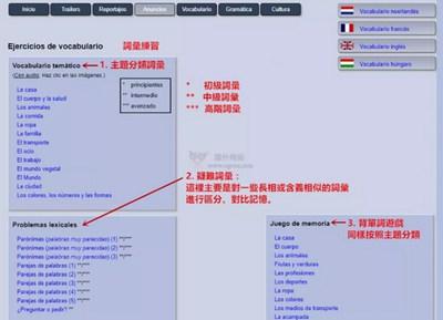 【经典网站】Vocabulario|西班牙语在线自学网