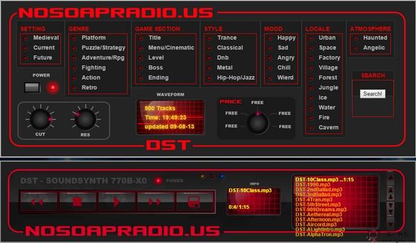 【经典网站】NosoapRadio:在线游戏背景音乐搜索网
