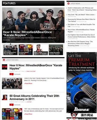 【经典网站】GuitarWorld:吉他世界爱好者