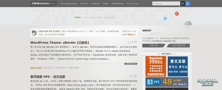 【Wordpress相关】2014年4月份最佳免费 WordPress 主题(国内精选)