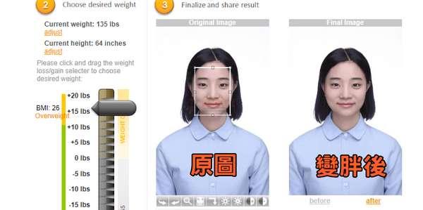 【工具类】WeightMirror|在线瘦身和瘦脸修图工具