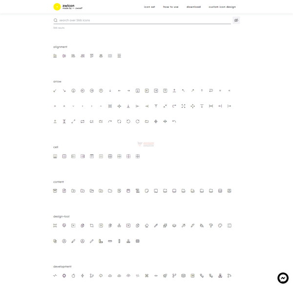 【素材网站】免费高品质图案集 – Zwicon