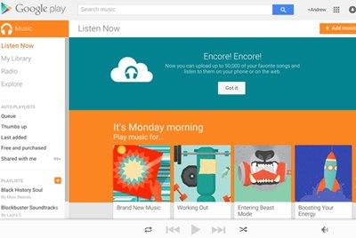 【数据测试】谷歌为用户开放50000首歌容量的免费云储存