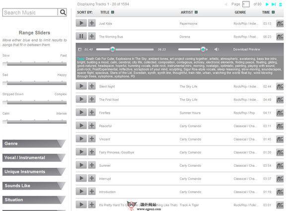 【经典网站】StereoBot:原声音乐试听购买网