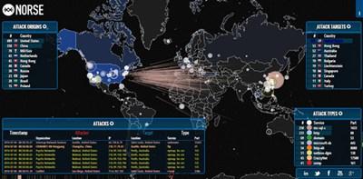 【经典网站】iPviking:在线黑客攻击可视化地图