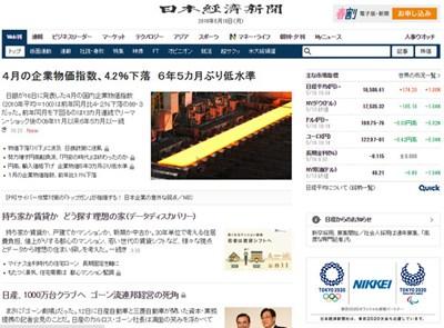 【经典网站】Nikkei:日本经济新闻中文版