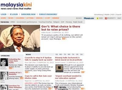【经典网站】Malaysiakini:当今大马新闻网